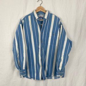 Vintage Express Striped Oversize Cotton Button Up
